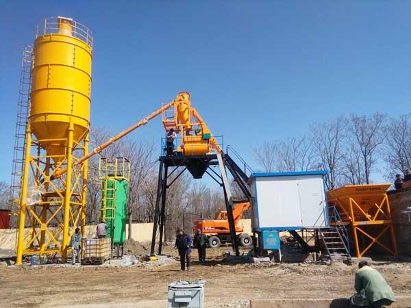 HZS25 ready mix concrete plant for sale
