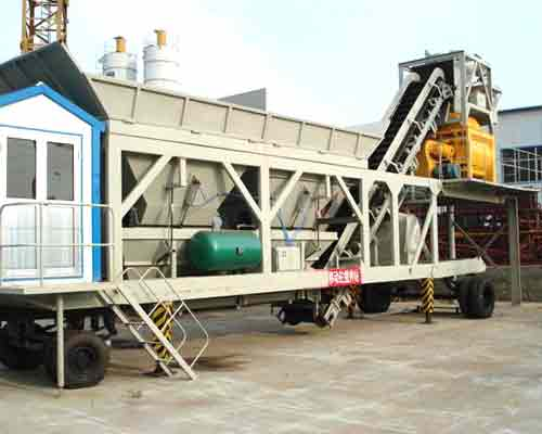 Mobile concrete mixing plant in Thailand
